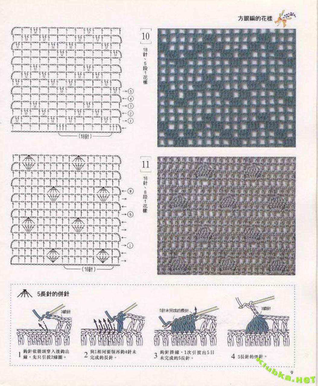 Вязание рисунков крючком филейное вязание