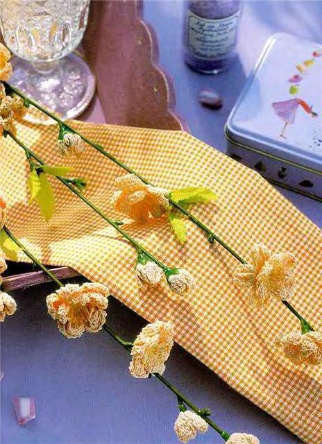 Вязаные крючком цветы 4