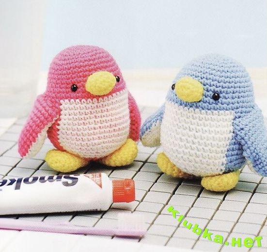 Вязаные пингвинчики