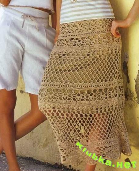 Кружевная юбка на подкладке