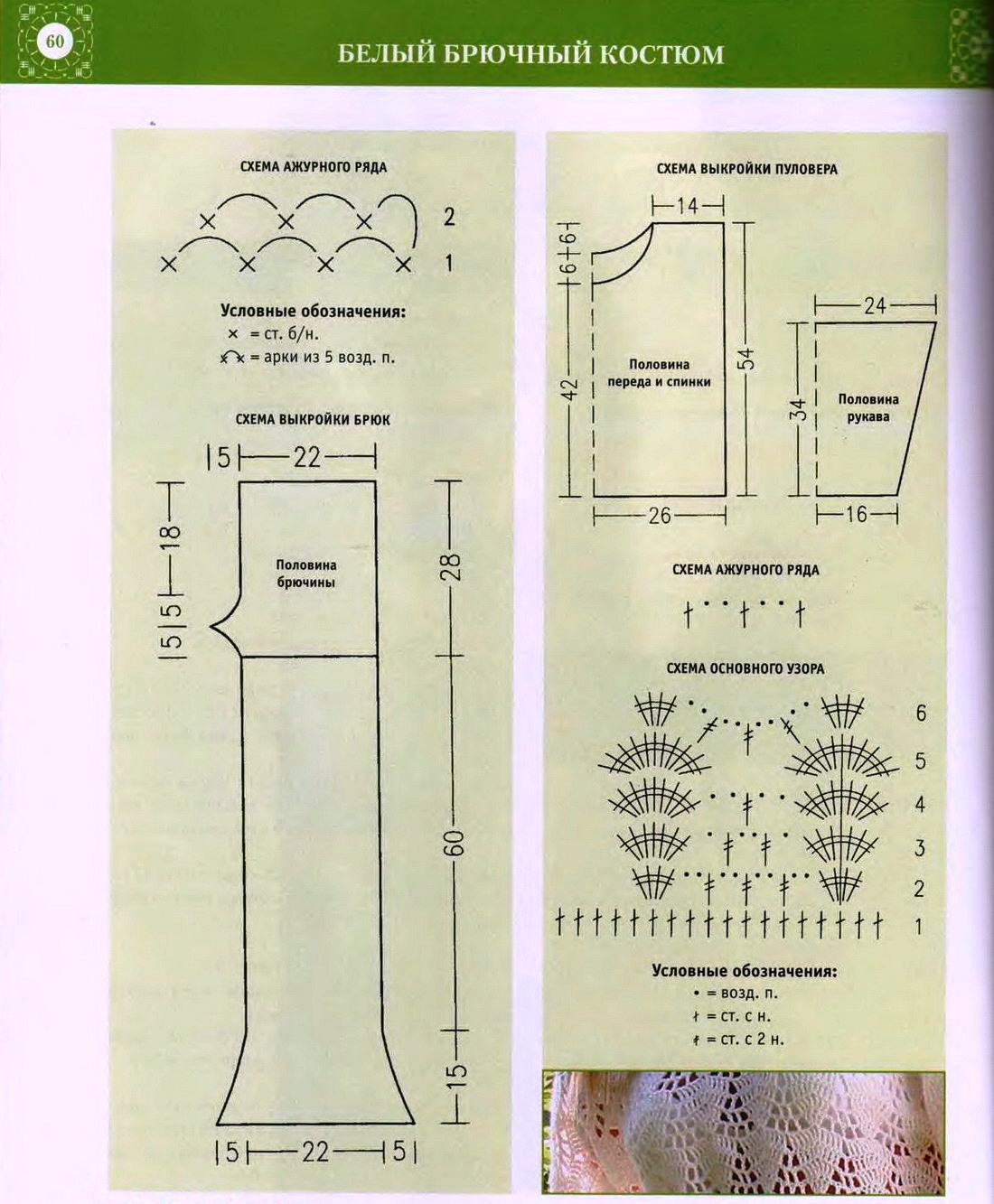 Схема как связать брюки