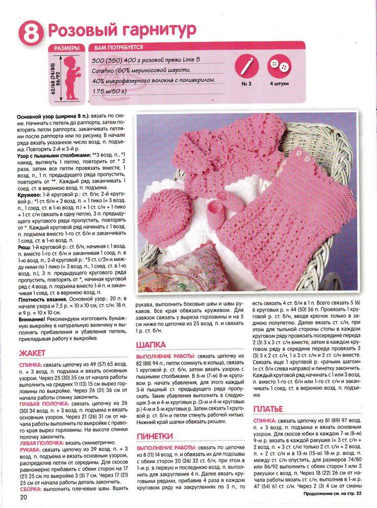 Вязание для девочек журнал схемы
