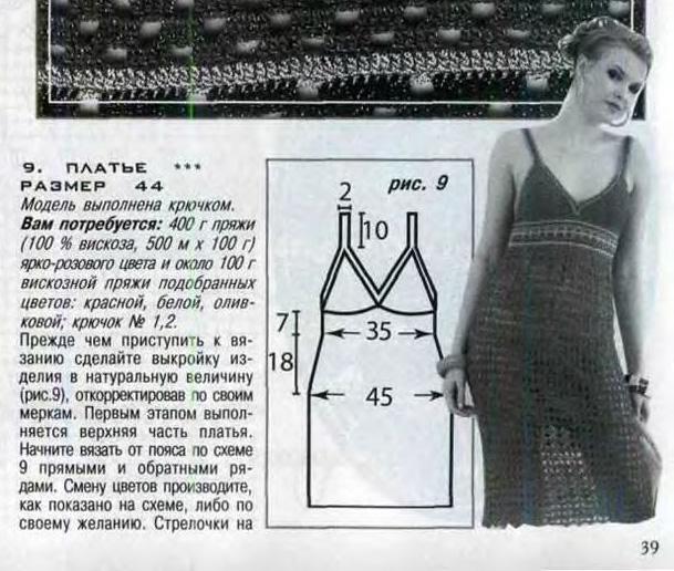 Платье, вязаное крючком