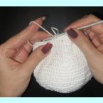Вытянутые петли или техника вязания искуственного меха