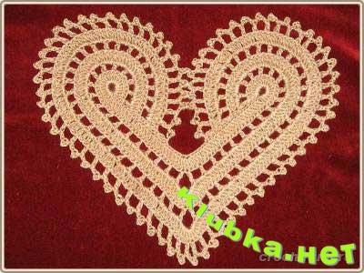 Золотое сердце. Вязание крючком