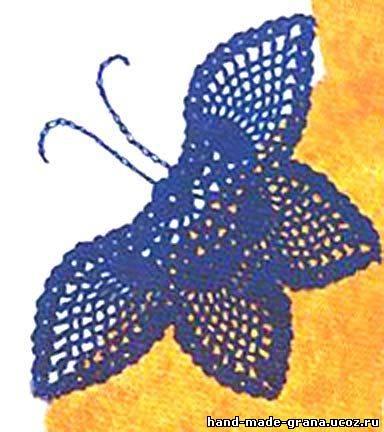 """Вязаные бабочки с рисунком """"ананас"""""""