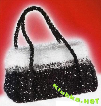 Вязаная вечерняя сумочка
