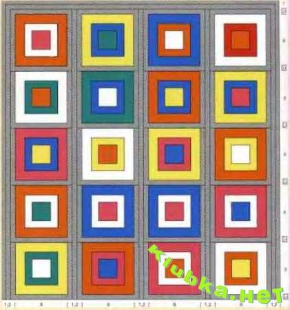 Женская сумка из разноцветных квадратов