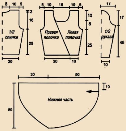 Туника с асимметричной застежкой
