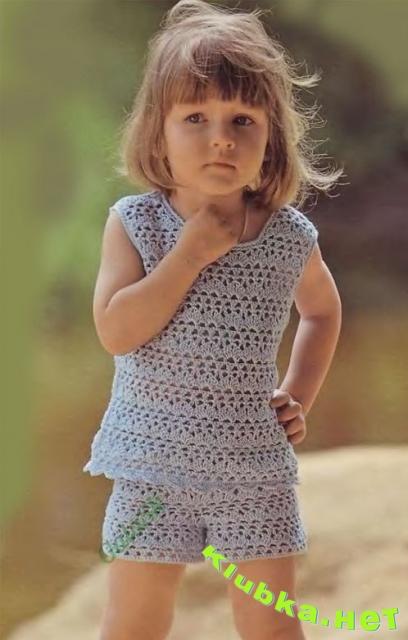 Детские вязаные крючком на лето детям