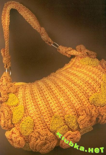 Летняя сумка крючком