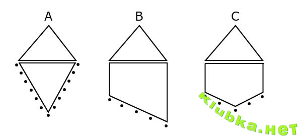 Красные вязаные сережки на треугольной металлической основе