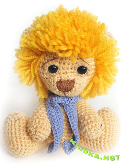 Львенок — вяжем игрушку крючком