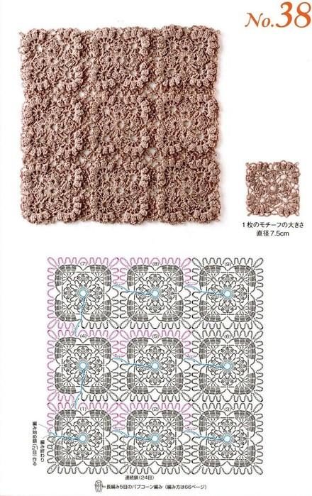 Схемы вязания узоров без