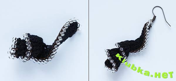 Вязаные сережки-спиральки крючком