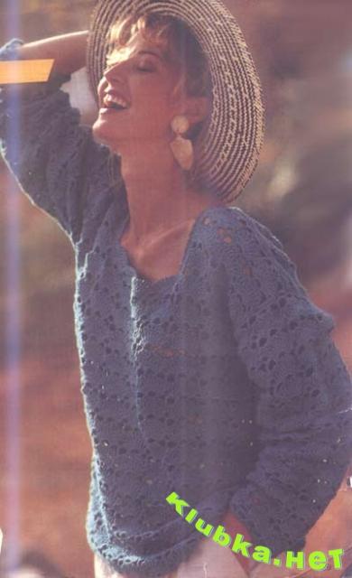 """Пуловер с узором """"Ракушка"""""""