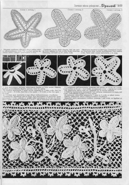 Схемы для ирландских и брюггских кружев