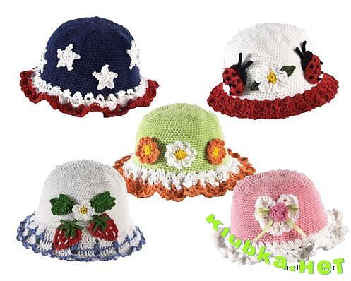 Детские шляпки крючком