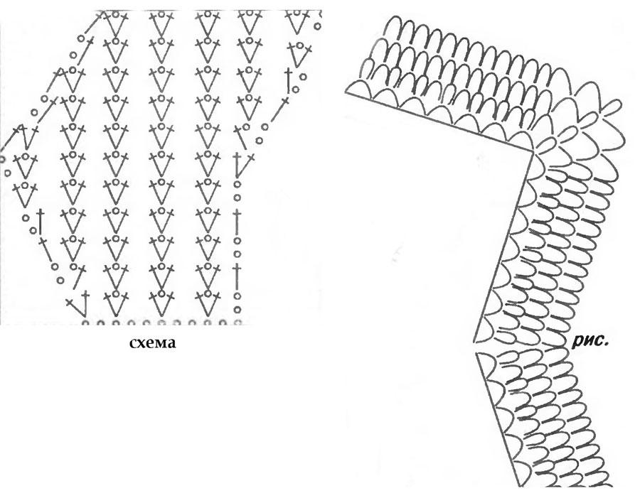 ажурные палантины крючком из отдельных мотивов схемы - Сумки