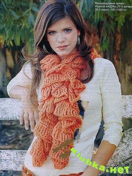 Вязаный шарф. Схемы, узоры, выкройки