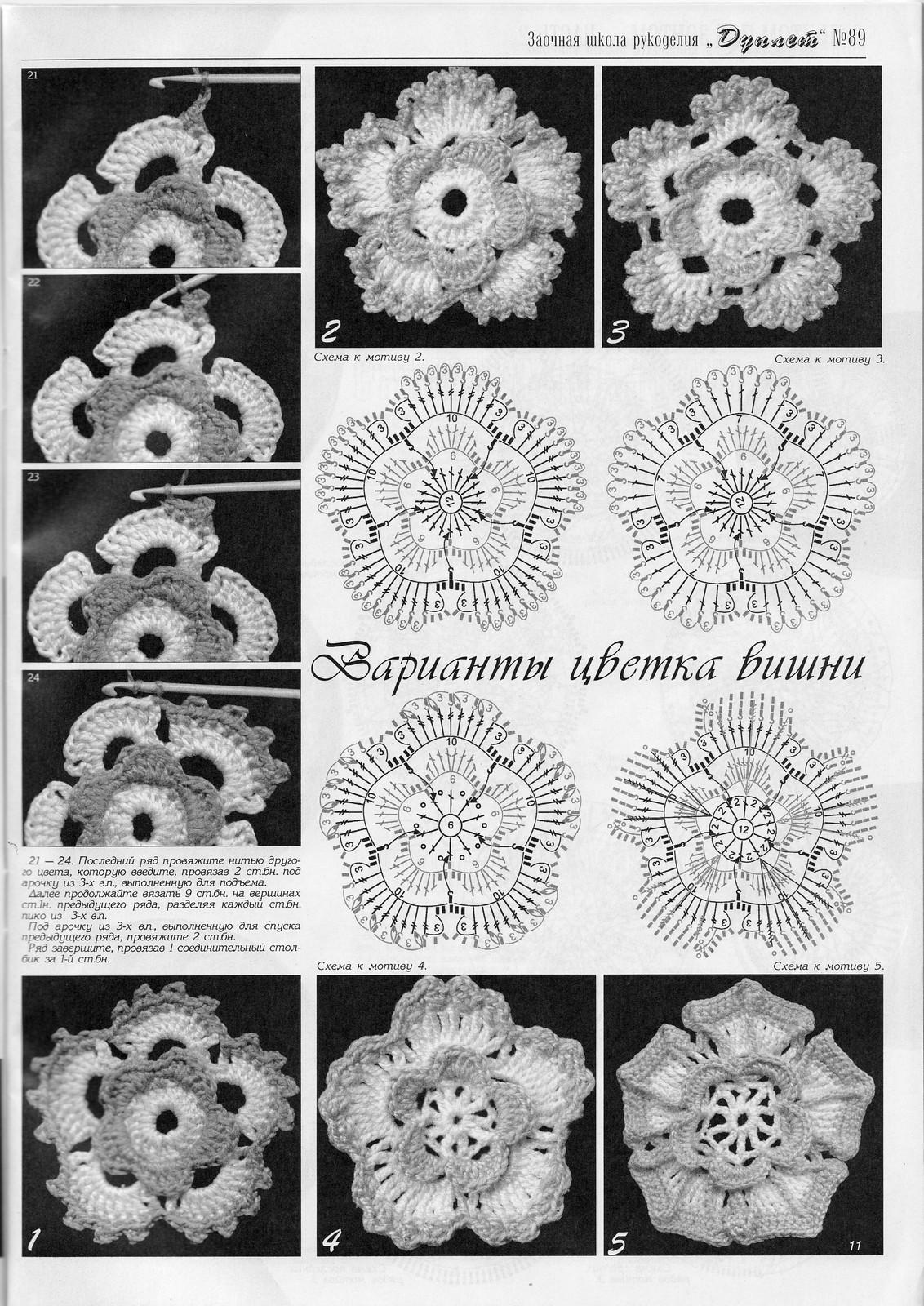 Оригинальное сообщение.  Вязание крючком/Аксесуары, украшения, цветы.