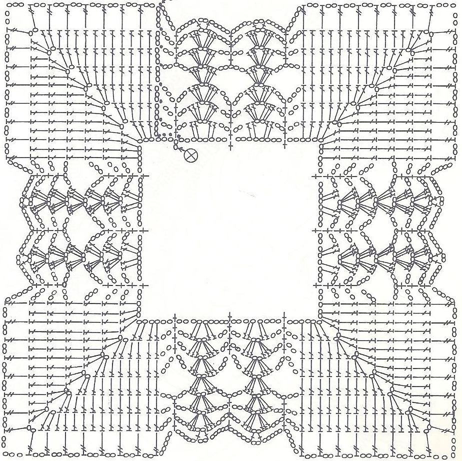 Квадратная салфетка крючком схема фото 643