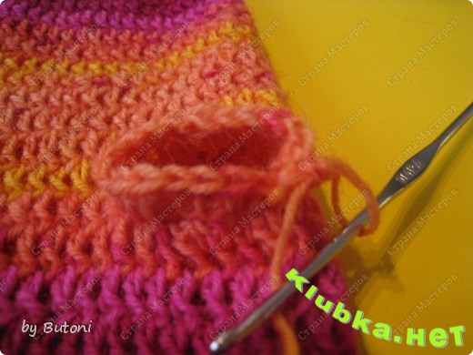 Варежки и повязка крючком (мастер-класс)