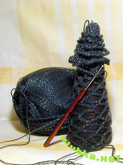 Вязаная крючком елка