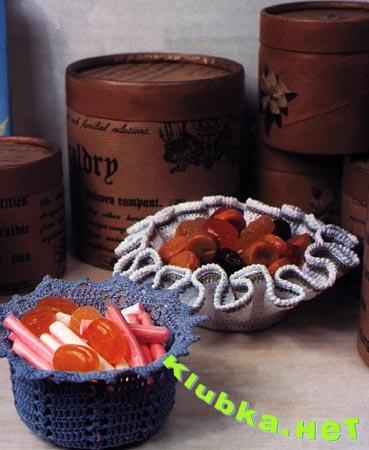 Декоративные вазочки крючком
