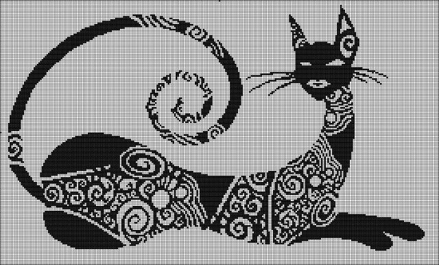"""Схемы """"Котики и зайчики"""" для филейного вязания"""