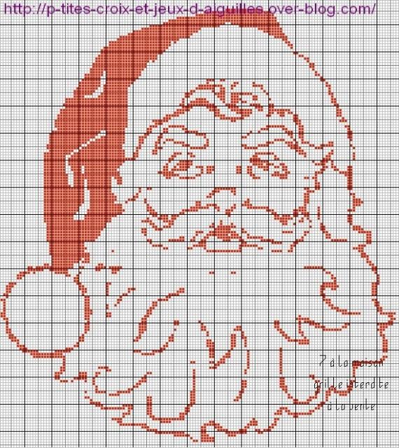 """Схемы """"Новый год"""" для филейного вязания"""