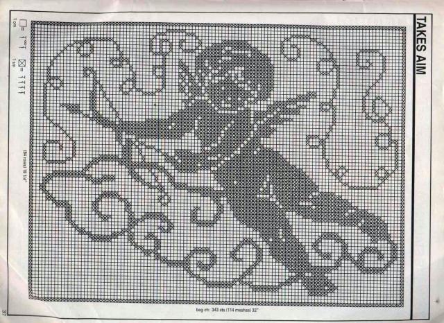 """Схемы """"Рождество"""" для филейного вязания"""