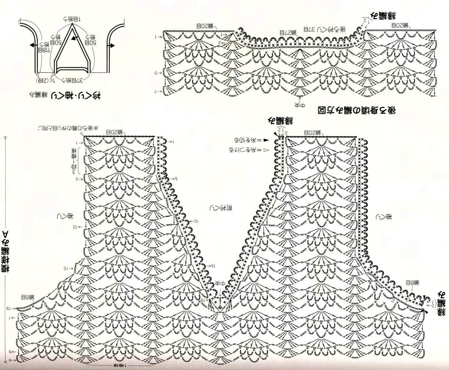 Схемы вязания крючком туник для женщин 49
