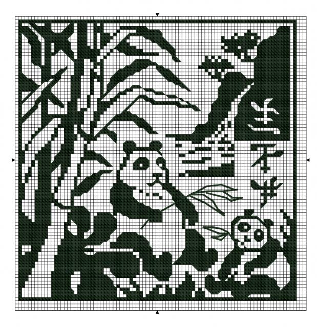 """Схемы """"Животные"""" для филейного вязания"""