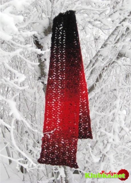 Женский шарфик крючком