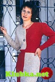 Вязаное крючком женское платье