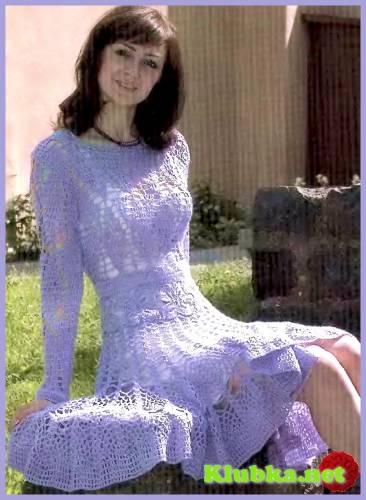 """Платье с юбкой """"клеш"""""""