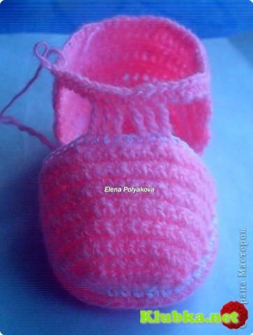 Пинетки-туфельки с закрытым носочком (Мастер-класс)