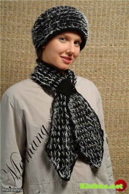 Комплект: шарф - галстук и шапка