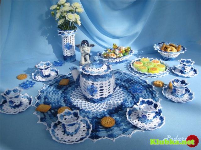 Чайный сервиз «Гжель»
