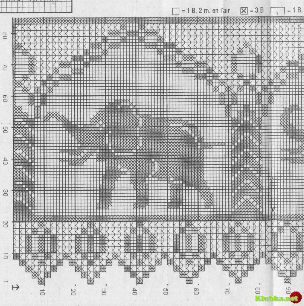 Филейное вязание схема в картинках