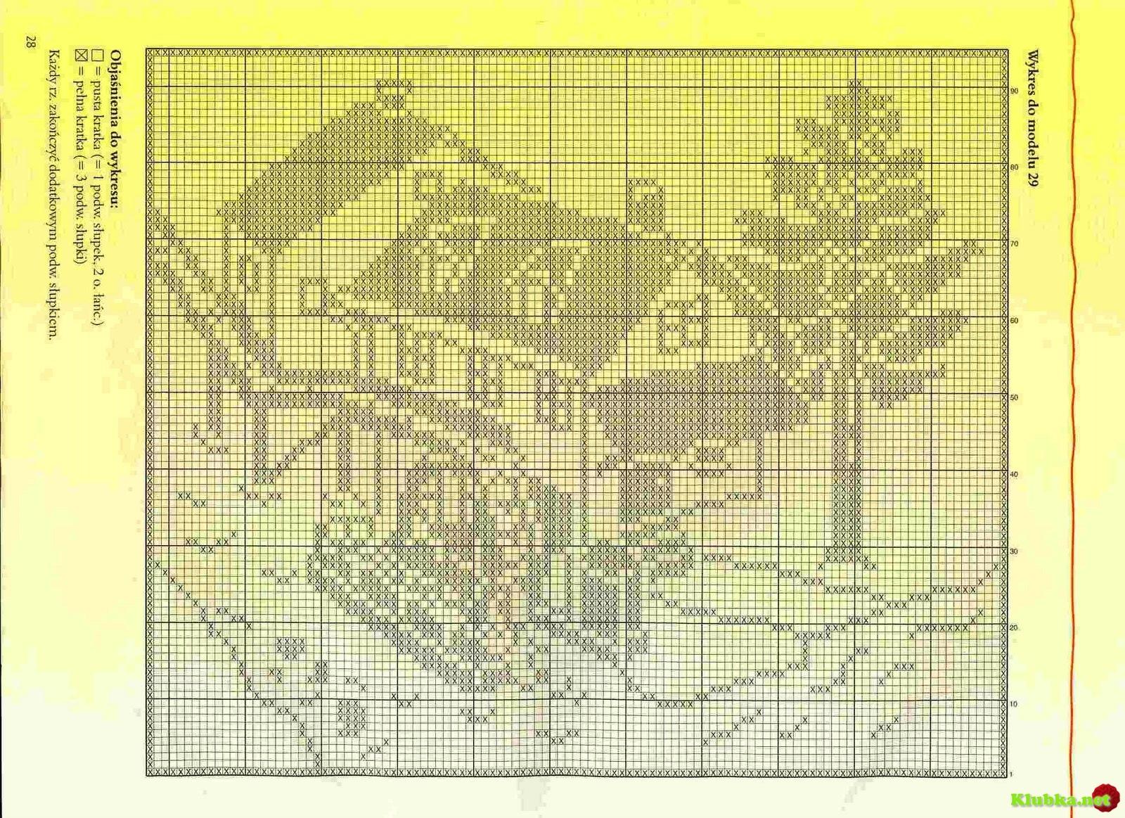 Схемы картин для вязания спицами