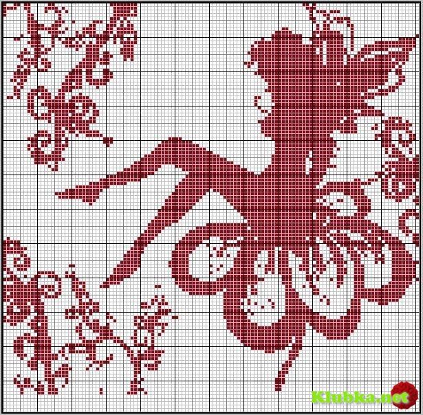 Схемы для филейного вязания »