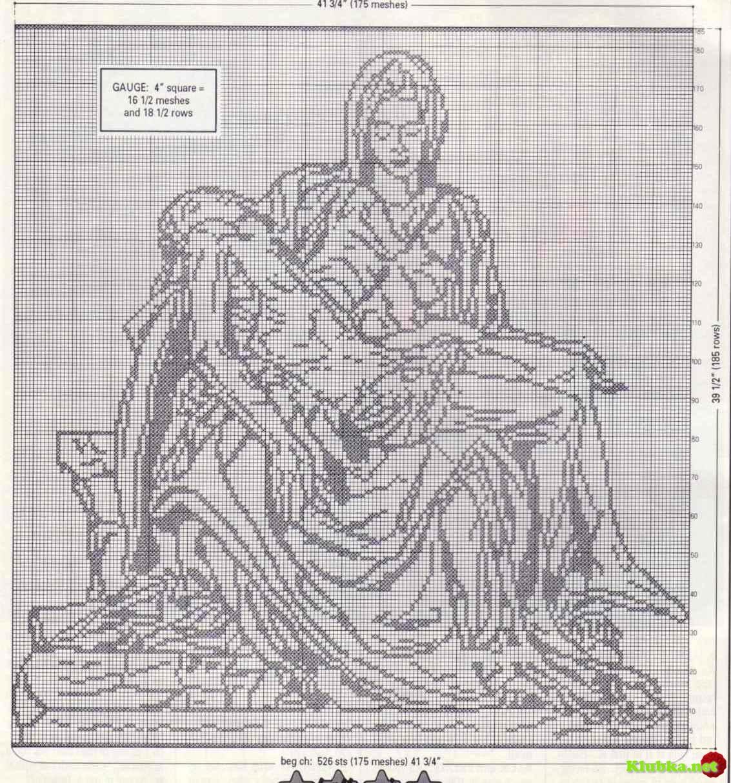 Филейное вязание схемы картин крючком схемы 76