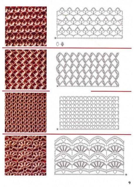 узоры вязания крючком,