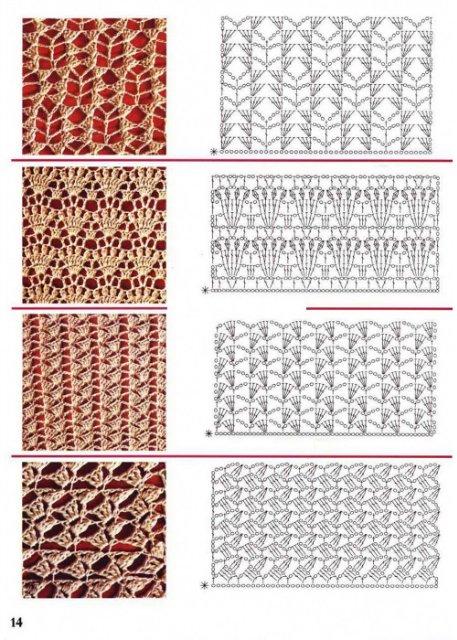 Узоры вязания крючком