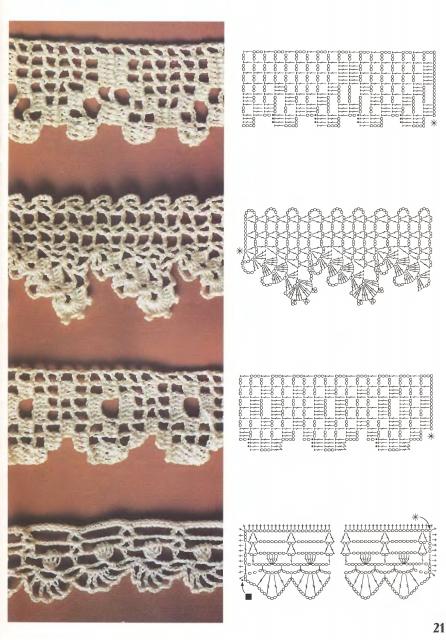 Коллекция образцов связанных крючком