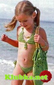 Вязаные купальники для девочек