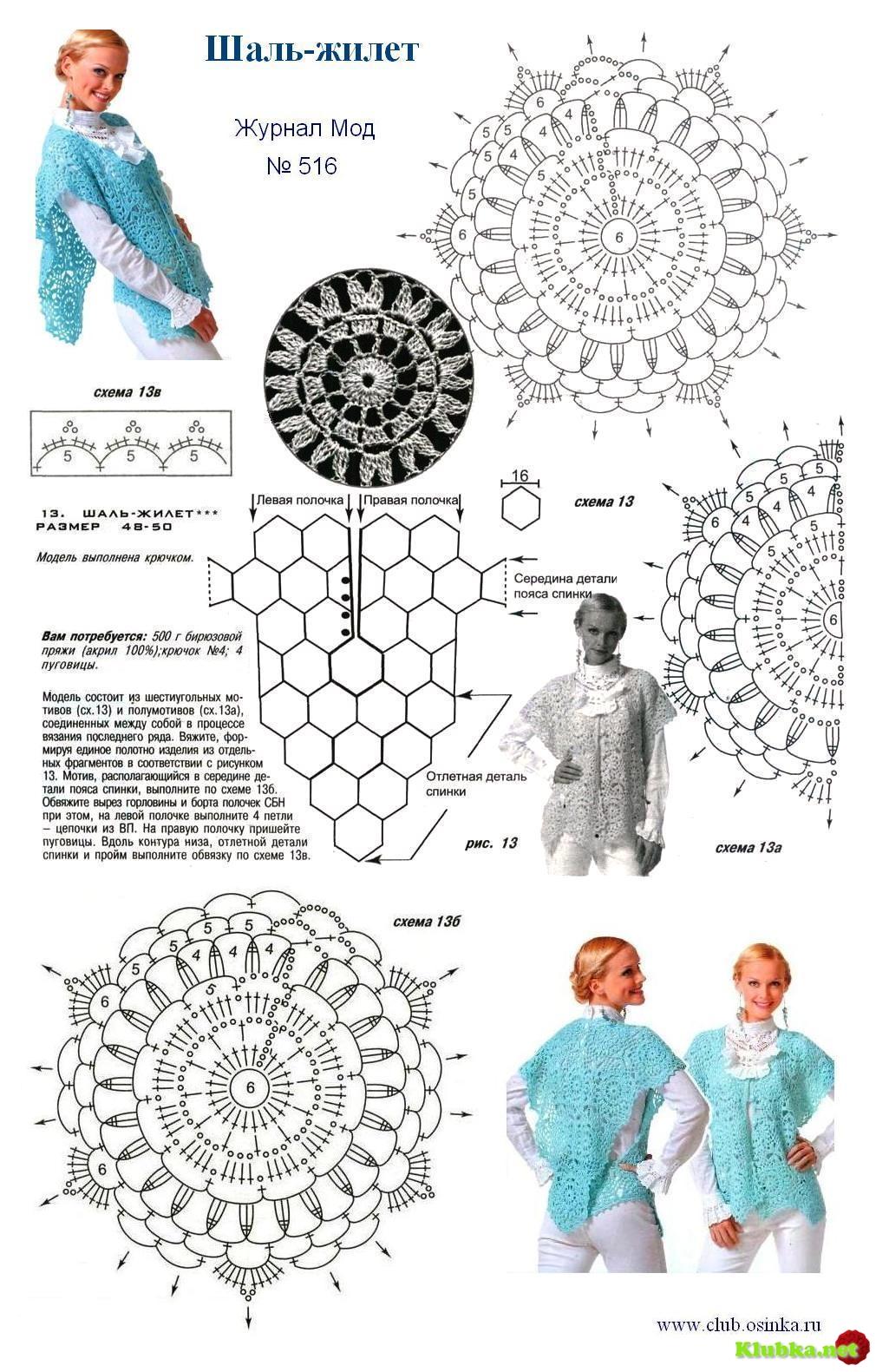 Вязаные накидки палантины шали схемы