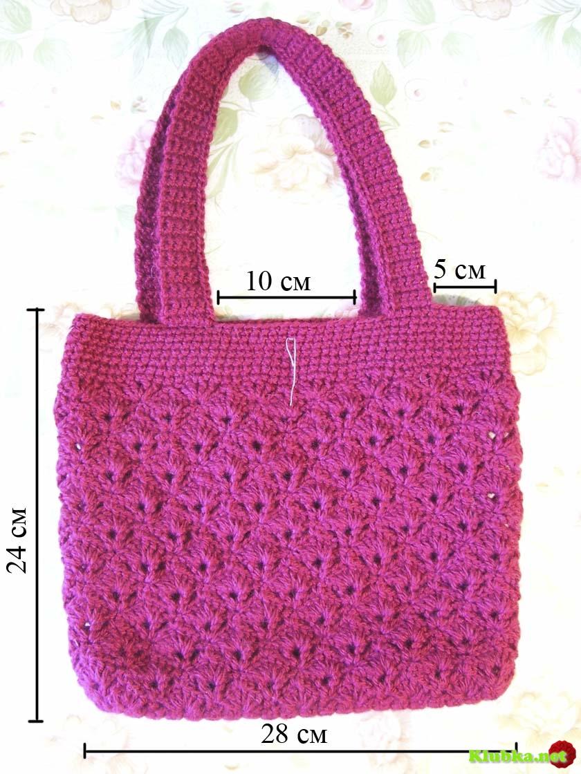 Вязание спицами ручки на сумку
